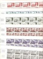 FRANCE   FEUILLE  DE  50  DU N° 1623/1628  NEUF ** MNH DE 1970 - Feuilles Complètes