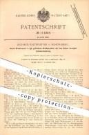 Original Patent - Richard Kaltefleiter In Schöneberg , Durch Druckwasser Getriebene Kraftmaschine , Motor , Motoren !!! - Historische Dokumente