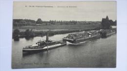 CHATOU 78  Yvelines Ile De Chatou Carrieres Un Train De Bateaux 78 CPA Animee Postcard - Chatou