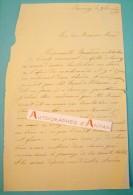 SAVENAY 1880 -  à M. MENARD - Boisdron - Lucas De Peslouan - Ecole Communale Des Filles De Savenay LAS Lettre Autographe - Autographes