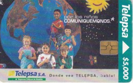 TARJETA DE COLOMBIA DE TELEPSA CON CHIP NEGRO - Colombia