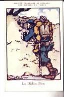 N°743  ,LOT DE 10 CARTES CROIX- ROUGE SIGNES GEORGES BRUYER  1915 . FUSILLIERS MARINS , ZOUAVES, DIABLES BLEUS ETC.... - Régiments