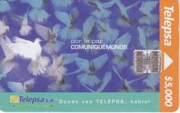 TARJETA DE COLOMBIA DE TELEPSA DE UNAS PALOMAS (PAJARO-BIRD) - Colombia
