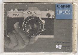 PO3311D# LIBRETTO ISTRUZIONI USO MACCHINA FOTOGRAFICA CANON FX - Macchine Fotografiche