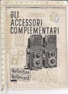 PO3312D# LIBRETTO ISTRUZIONI MACCHINA FOTOGRAFICA ACCESSORI COMPLEMENTARI ROLLEIFLEX ROLLEICORD - Materiale & Accessori