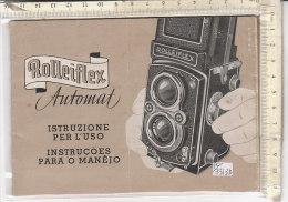 PO3313D# LIBRETTO ISTRUZIONI MACCHINA FOTOGRAFICA ROLLEIFLEX AUTOMAT - Macchine Fotografiche