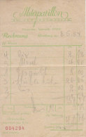 PO3330D# RICEVUTA RISTORANTE ALSTERPAVILLON - HAMBURG GERMANY 1954 - Germania