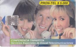 TARJETA DE COLOMBIA DE PRON-TEL CONFERENCIA TRIPARTITA - Colombia