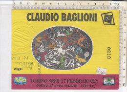 PO3346D# BIGLIETTO CONCERTO CLAUDIO BAGLIONI - TORINO PALASPORT 17 FEBBRAIO 1992 - Biglietti Per Concerti