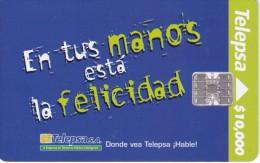 TARJETA DE COLOMBIA DE TELEPSA EN TUS MANOS ESTA LA FELICIDAD - Colombia