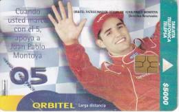 TARJETA DE COLOMBIA DE TELEPSA DE JUAN PABLO MONTOYA - Colombia