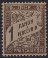 Inde Française - N° YT Taxe 15 Neuf. - India (1892-1954)