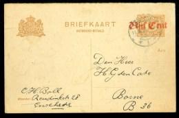 NEDERLAND * HANDGESCHREVEN BRIEFKAART * GELOPEN IN 1921 Van ENSCHEDE Naar BORNE (10.007i) - Postwaardestukken
