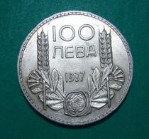 BULGARIA 100 LEVA 1937 SILVER HIGH QUALITY - Bulgaria