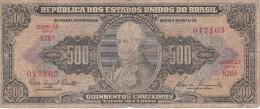 BILLETE DE BRASIL DE 500 CRUZEIROS DEL AÑO 1955 (BANK NOTE) - Brasil