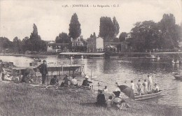 94 JOINVILLE Le PONT  Baignade Du Banc De SABLE Jeunes Garçons à L' EAU Plongeoir Femmes élégantes 1904 - Joinville Le Pont