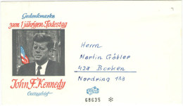 GERMANIA - GERMANY - Deutschland - ALLEMAGNE - 1964 - FDC Cover Not Used - Gedenkmarke Zum 1 Jährigen Todestags John ... - Storia Postale