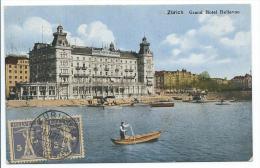 Suisse, Swiss: Zurich, Grand Hotel Bellevue, Cachet Alec S.Crausaz RECP 14730. 1927 - ZH Zurich