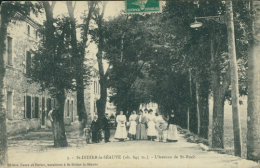 43 SAINT DIDIER EN VELAY / Saint-Didier-la-Séauve, L'Avenue De Saint-Roch / - Saint Didier En Velay