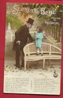 HAR-04  Lot De 5 Cartes, Le Secret De Bébé, Poésie De Provansal, Provençal.Circulées En 1925 Vers Une Sage-femme Suisse - Fairy Tales, Popular Stories & Legends