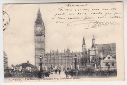 London, The Houses Of Parliament From Parliament Square (pk25863) - St. Paul's Cathedral