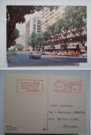 POSTCARD ADVERT POSTMARK 1970years BRASIL BRAZIL BELO  Brésil BRESIL BELÉM STREET SCENE AV. GETÚLIO VARGAS - Belo Horizonte