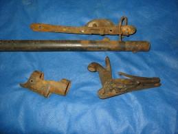 Canon ,platine,autres Pieces Ancien Fusil Militaire Percussion - Decotatieve Wapens