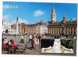 LILLE - LA PLACE DU GENERAL DE GAULLE- CPM GF VOYAGEE - Lille