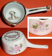 Lot De 2 Casseroles Miniatures En Porcelaine émaillée De Limoges Restaurant LASSERRE Paris, Dinette Cassolette - Limoges (FRA)