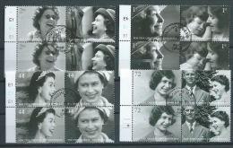 GB 2006 QUEENS 80TH BIRTHDAY ATTACHED BLOOKLET OF 4V.FD CANCELED SET OF (16) SG 2620-27 MI 2400-07 SC 2364-71 IV 2742-49 - 1952-.... (Elizabeth II)