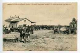 Saint Denis De Jouhet Grande Foire Du 4 Octobre La Gare (embarquement Des Bestiaux) Rare - Autres Communes