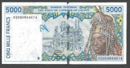 BENIN  ( West African States) 5000 Francs 2002- P213Bl - UNC - Togo