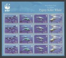 TUVALU 2006 WWF WILDLIFE MARINE MAMMALS PYGMY KILLER WHALE SHEET MNH - Tuvalu