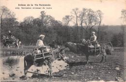 14 - 27 - 50 - 61 - 76 - Normandie - Scène De Vie Normande - Servantes Revenant De Traire - Caen