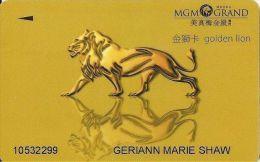 MGM Grand Macau Casino Slot Card - Wide Magnetic Stripe - Casino Cards