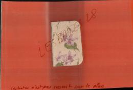 CALENDRIERS AGENDA PETIT FORMAT  CALENDRIER 1906  Couverture Imitation Toile  Décors Fleurs - Calendriers