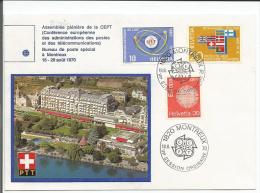Montreux, Conférence Plénière De La CEPT, Montreux 18.8.70 - Poststempel