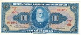 Brazil , 100 Cruzeiros, UNC. FREE SHIP. TO USA. - Brazil