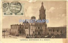 21708 MEXICO NUEVO LEON D.F CHURCH CATEDRAL MONTERREY CIRCULATED TO ARGENTINA POSTAL POSTCARD - México