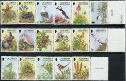 GN0927 Alderney 1994 Animals Birds Butterfly 17v+labal MNH - Alderney