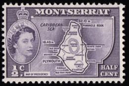 MONTSERRAT - Scott #128 Map Of Presidency (*) / Mint NH Stamp - Montserrat