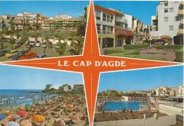 D1049 - POSTAL - LE CAP D´AGDE - REGARDS SUR LE MOLE - Agde