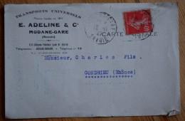 73 : Modane - Carte Postale à Entête Des Transports Universels E. Adeline & Co - Modane Gare - Bords Usagés - (n°4814) - Modane