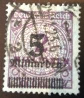 Mi 332AWa INFLA GEPRÜFT BPP: 1923 5 Milliarden Auf 2 Mio Lila (Deutsches Reich Inflation Gestempelt - Deutschland