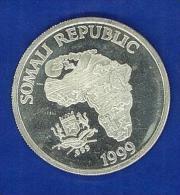 SOMALIA - 10 DOLLARI - ONCIA  FINE SILVER  - 1 OZ - THE AFRICAN MONKEY - ANNO 1999 - FONDO SPECCHIO - PROOF - Somalia