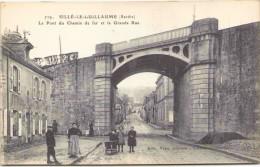 SILLÉ-le-GUILLAUME - Le Pont Du Chemin De Fer Et La Grande Rue - Sille Le Guillaume