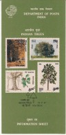 Information On Indian Trees, Reference On Hinduism And Buddhism Tree  Worship, India 1987 - Arbres