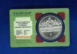 Originale Medaglia Servizio Cortesia IPZS Argento 986 ANNO 1994 FdC.grammi 22. - Italia