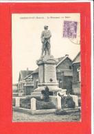 80 HEUDICOURT Cpa Le Monument Aux Morts Edit Marius - France