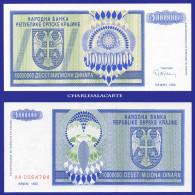 1993  CROATIA KRAJINA  10 MILLION DINARA KRAUSE R12 UNC. CONDITION - Croatia